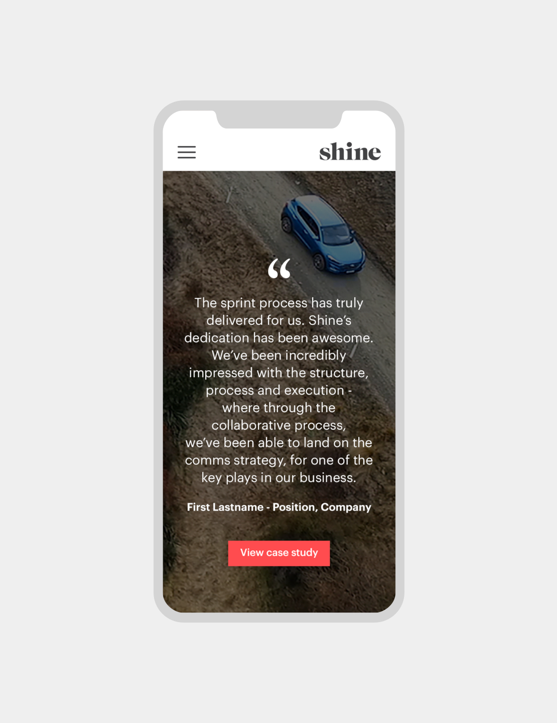 Shine What we do Mobile